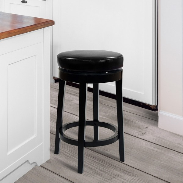 Backless Swivel Stool 11975656 Overstock Com Shopping