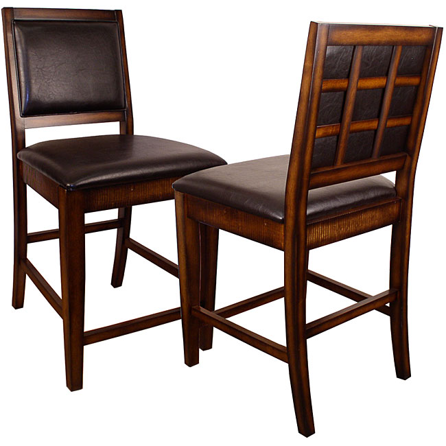 1000 Ideas About Counter Height Chairs On Pinterest: Rustic Oak Counter-height Chairs (Set Of 2)