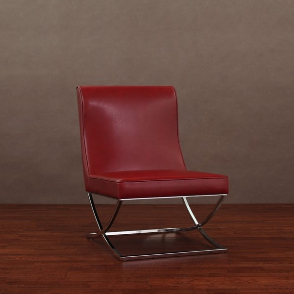 Milano Red Leather Sofa: Milano Burnt Red Leather Lounger