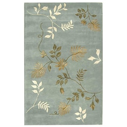 Hand Tufted Brown Floral Rug 5 X 8 13291433
