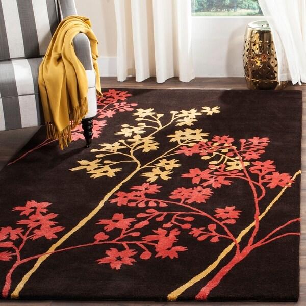 Safavieh Handmade Soho Autumn Brown New Zealand Wool Rug - 5' x 8'