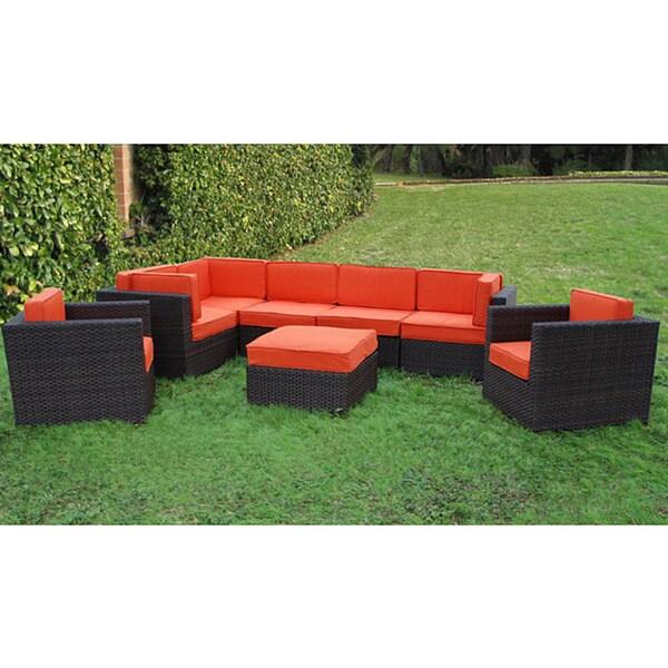 Atlantic Patio Furniture Reviews: Atlantic Siena 8-piece Patio Set With Orange Cushions