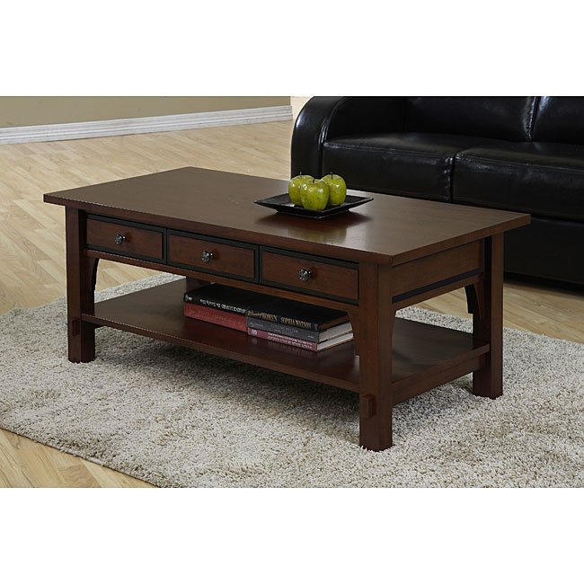 Coffee Table With Drawers: Talisman 3-drawer Coffee Table