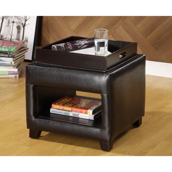 Furniture Of America Lorraine Petite Vanity Ottoman With
