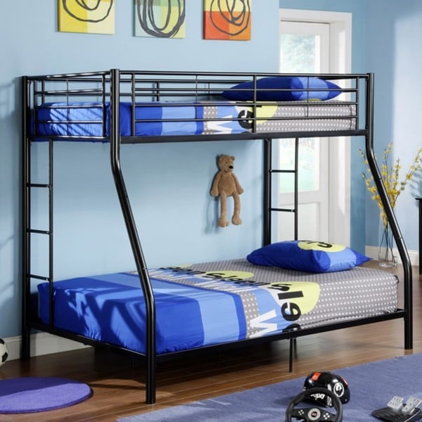 Black Metal Twin Double Full Bunk Bed Overstock Shopping