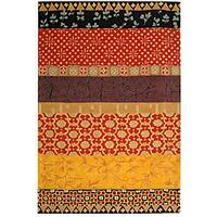 Safavieh Handmade Rodeo Drive Bohemian Collage Rust/ Gold Wool Rug - 8' x 11'