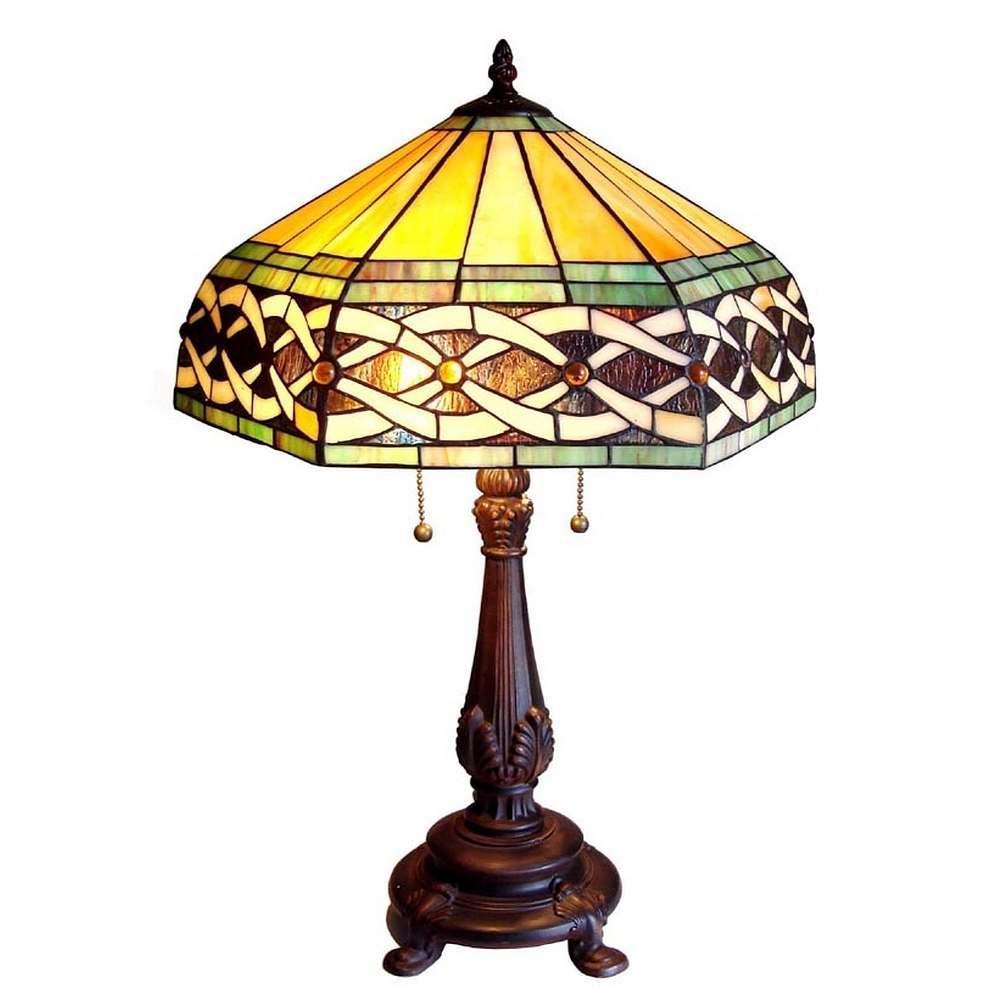 Tiffany Style Victorian 2 Light Table Lamp 11877351