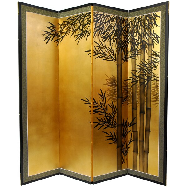 Gold Leaf Bamboo Silk Painting China 12038193