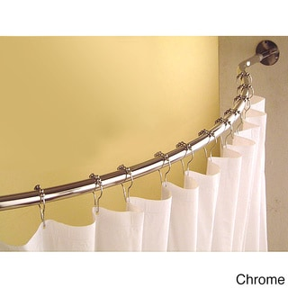 Curved 78 to 84inch Shower Curtain Rod  Overstock Shopping  The Best Prices on Bathroom