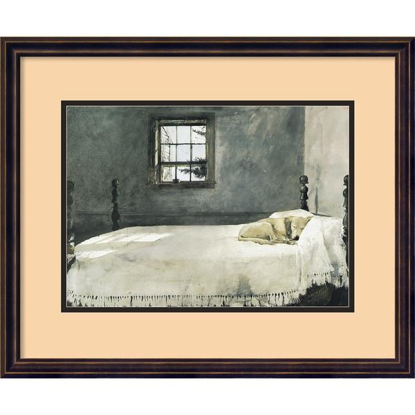 Bedroom Artwork Prints: Andrew Wyeth 'Master Bedroom' Framed Art Print