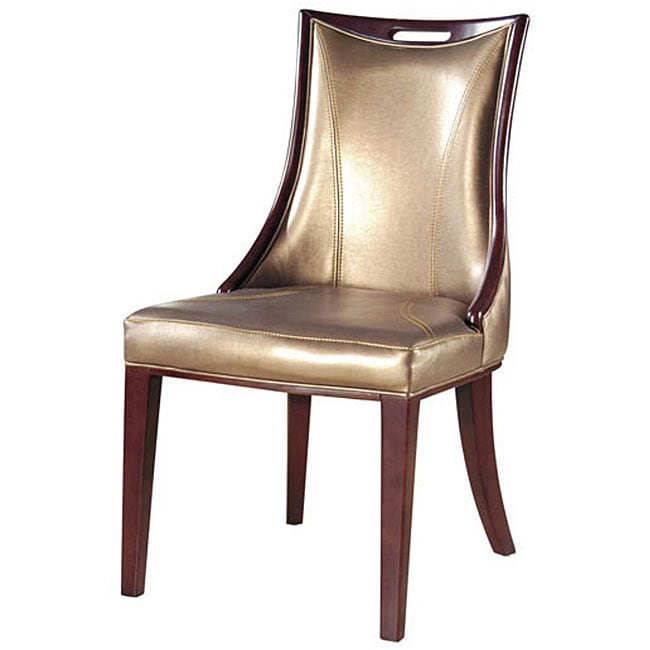 Inspire Q Andorra Velvet And Faux Alligator Leather Dining: Empress Leather Dining Chairs (Set Of 2)