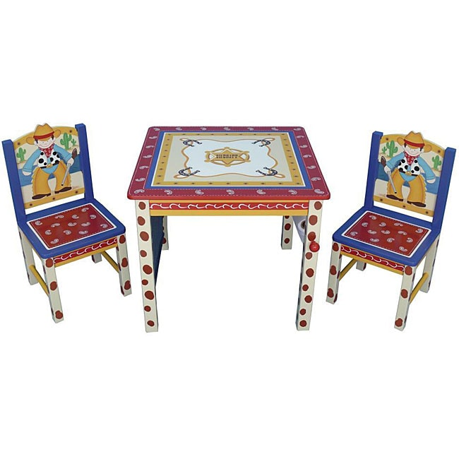 Cowboy Kids Three Piece Table And Chair Set 12066986