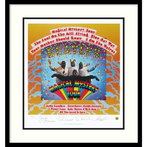 the beatles magical mystery tour album cover 39 framed art print overstock shopping top. Black Bedroom Furniture Sets. Home Design Ideas