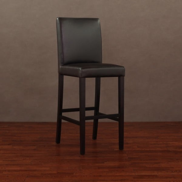 Andre Dark Brown Leather Bar Stool 12090632 Overstock