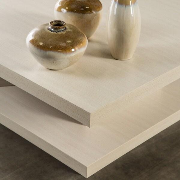 cream color pagoda coffee table white unique ivory square elegant decor art new ebay. Black Bedroom Furniture Sets. Home Design Ideas