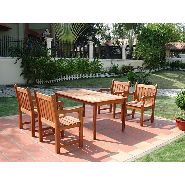Overstock Dining Set: Balthazar 5-Piece Outdoor Dining Set