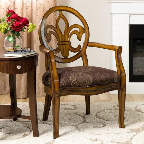 Fleur De Lis Chocolate Chair 12105187 Overstock Com