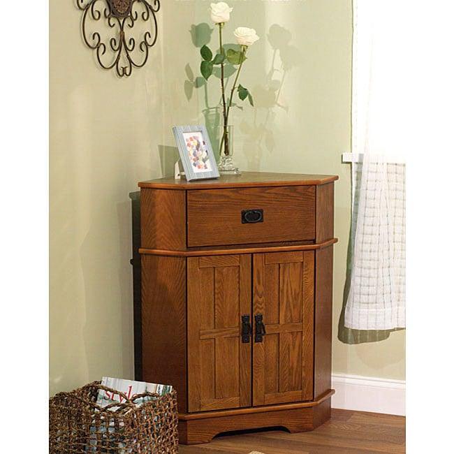 Living Room Furniture For Corner Cabinet: Simple Living Mission Corner Cabinet