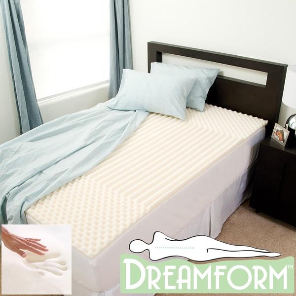 Dream Form Eco Friendly Contoured 2 Inch Memory Foam
