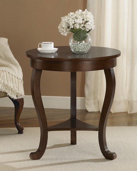 Overstock End Tables: Large Burl Accent Table