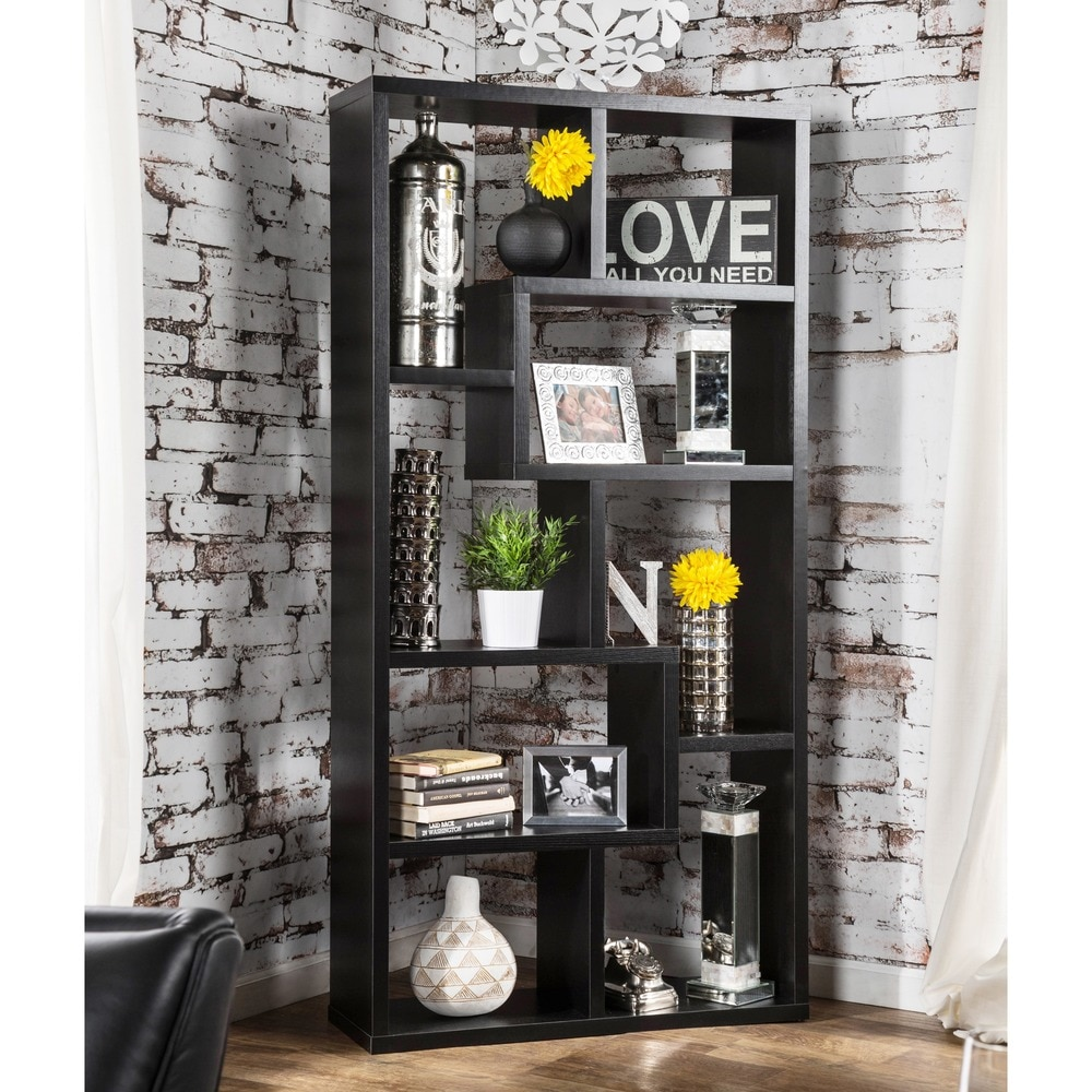 display cabinet bookcase leveled unique decorative storage