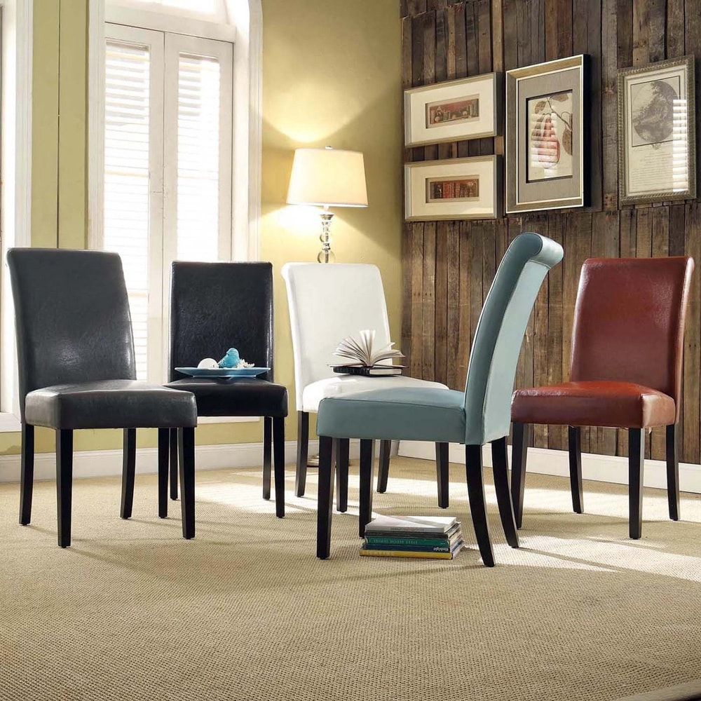 TRIBECCA HOME Dorian Faux Leather Upholstered Dining Chair