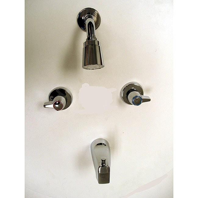 Moen 2 Handle Chrome Tub Shower Faucet 12118883