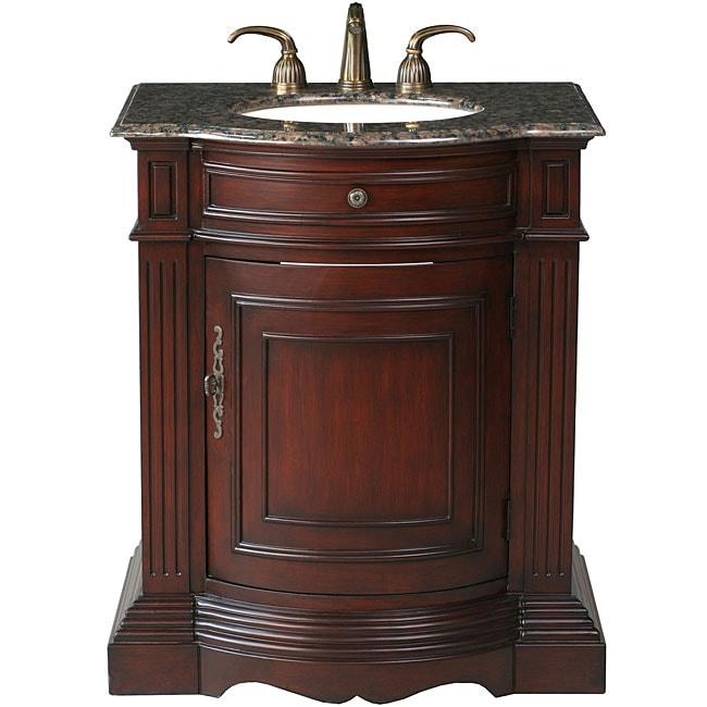 Stufurhome catherine 30 inch single sink granite top - 30 inch single sink bathroom vanity ...