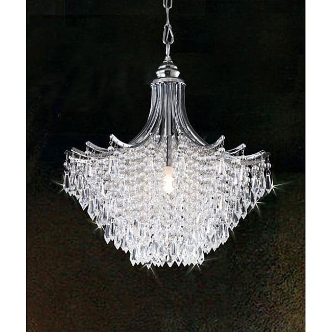 Overstock Lighting: Silver Crystal Chandelier