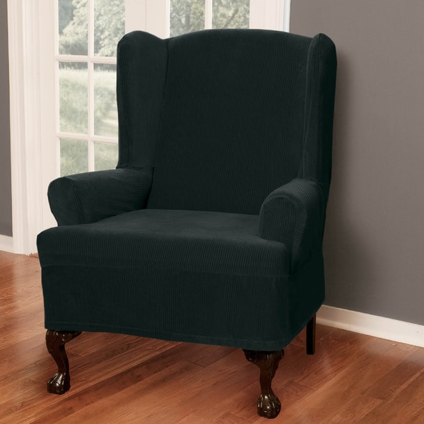 Maytex Collin Wing Chair Slipcover 12134212 Overstock