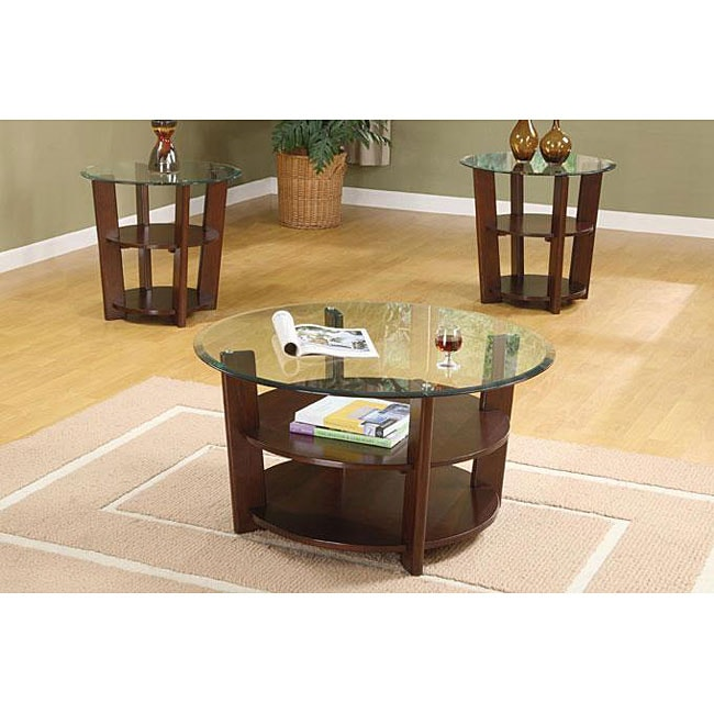 Overstock End Tables: Randall 3-piece Coffee Table Set