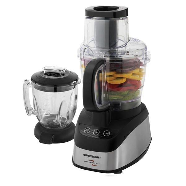 Black Amp Decker Fp2620s Wide Mouth Combo Food Processor And