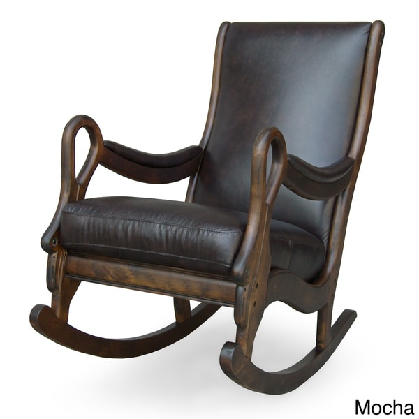 Vintage Leather Rocking Chair 12146723 Overstock Com