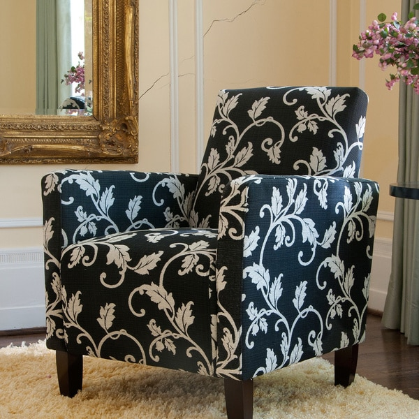 Angelo Home Sutton Accent Arm Chair Charcoal Black And