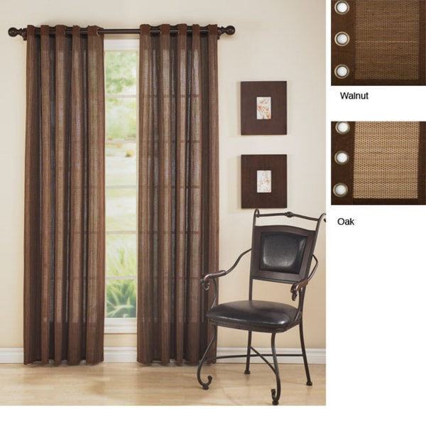 Bamboo 84 Inch Grommet Top Curtain Panel 12155823