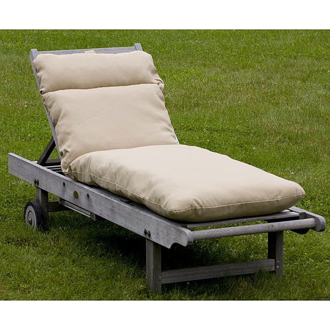Outdoor Beige Chaise Lounge Cushion Overstock Shopping