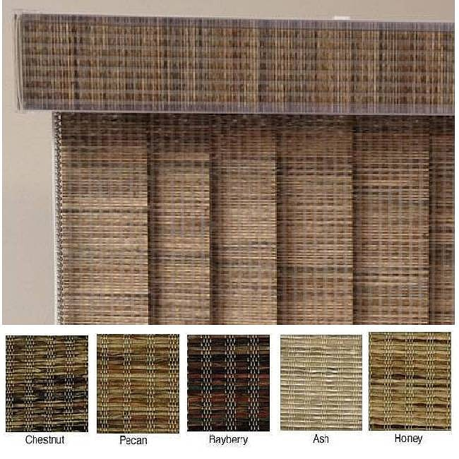 Edinborough Fabric Vertical Blinds And Valance 100 In W
