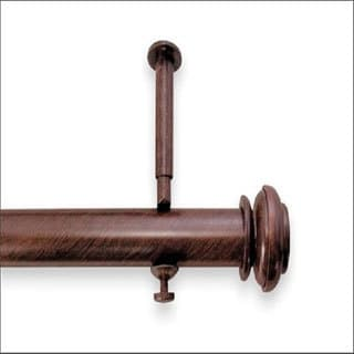 Bold 144 to 240inch Adjustable Curtain Rod Set for Patio Doors 13129992 Overstock.com