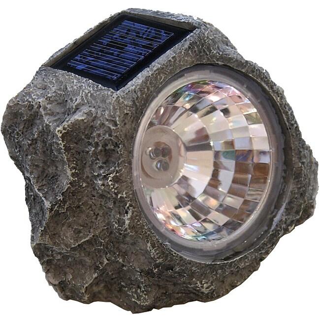 Tricod Stone Shaped Solar Spotlight 12218082 Overstock