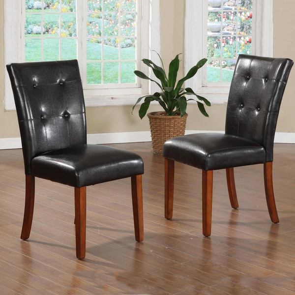 TRIBECCA HOME Hutton Faux Leather Upholstered Dining
