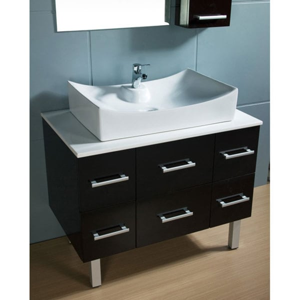 Design Element Paris Contemporary Bathroom Vanity With