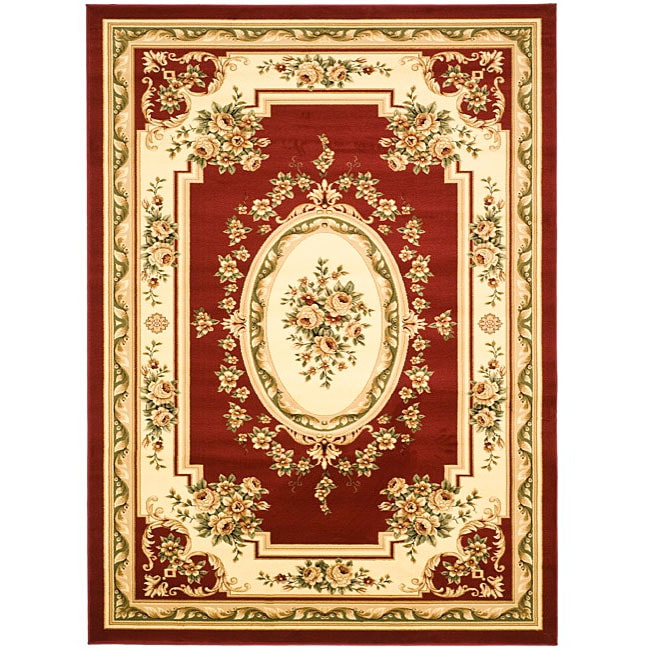 Safavieh Lyndhurst Collection Red/Ivory Rug (8' X 11
