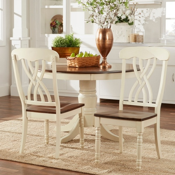 Overstock Dining Chairs: TRIBECCA HOME Mackenzie Country Antique White Side Chair