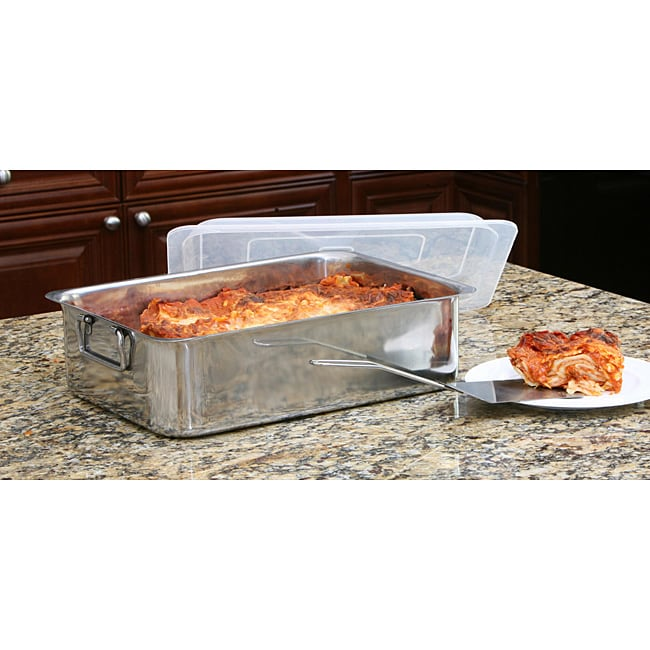 Deep Stainless Steel Roasting Pan 12256426 Overstock