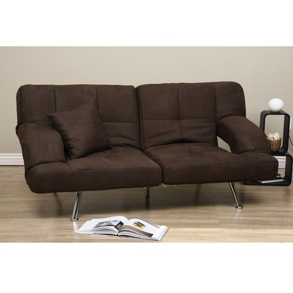 Sofa Bed Deals: Dark Brown Microfiber Sofa Bed