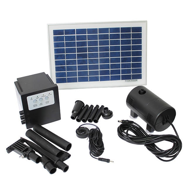 Solar Powered 8 Watt 18 Volt Water Pump With Battery And