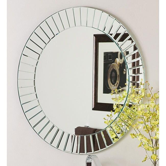 Glow Modern Frameless Wall Mirror 12287712 Overstock