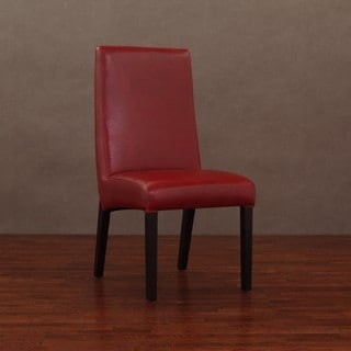 Monaco Burnt Red Leather Dining Chairs Set Of 2