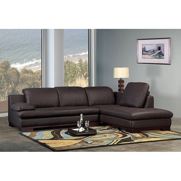 Aris Functional Leather Sectional Sofa 12321371