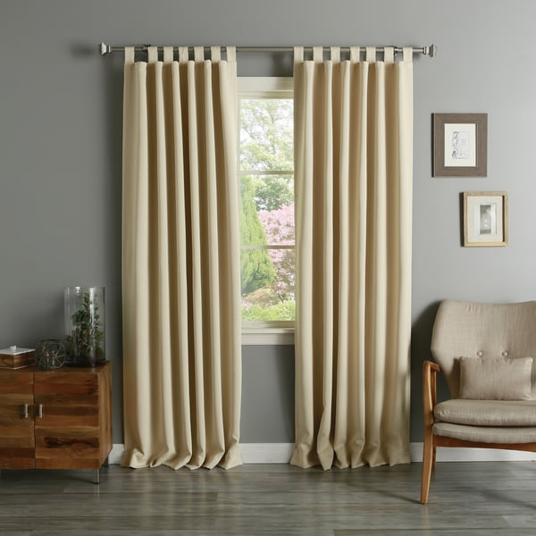 Tab Top Thermal Insulated 95-inch Blackout Curtain Panel